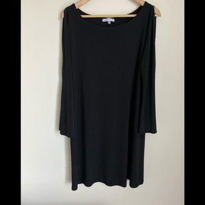 AnnaLee and hope black naked shoulder dress